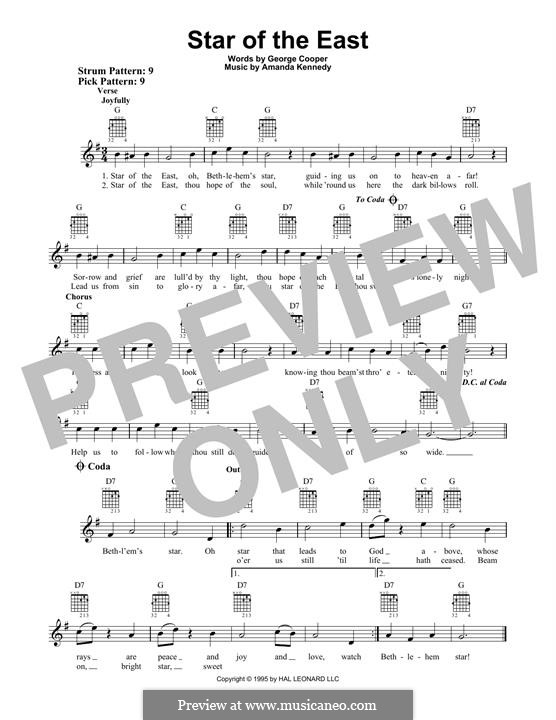 Star of the East: For guitar with tab by Amanda Kennedy