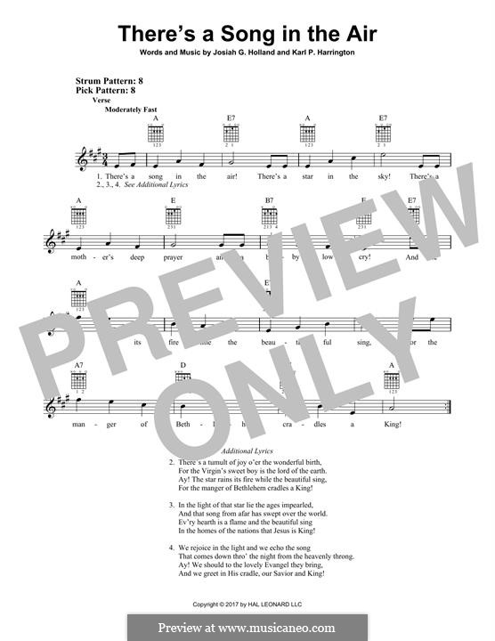 There's a Song in the Air: For guitar with tab by Karl P. Harrington