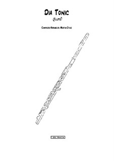 Dia Tonic: For flute by Martin Stolz