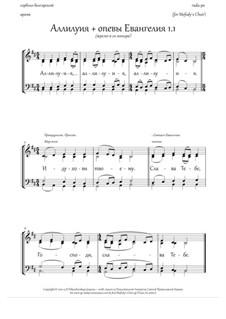 Alleluia and the Gospel singing (1.1, Hm, m.quartet) - RU: Alleluia and the Gospel singing (1.1, Hm, m.quartet) - RU by Rada Po