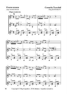 Ехали казаки (трио), Оp.23: Ехали казаки (трио) by Oleg Kopenkov