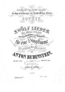 Zwölf Lieder des Mirza-Schaffy, Op.34: Nr.9 Gelb rollt mir zu Füssen by Anton Rubinstein