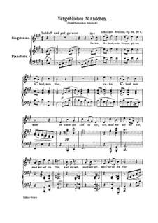 Romances and Songs, Op.84: No.4 Vergebliches Ständchen (The Vain Suit) by Johannes Brahms