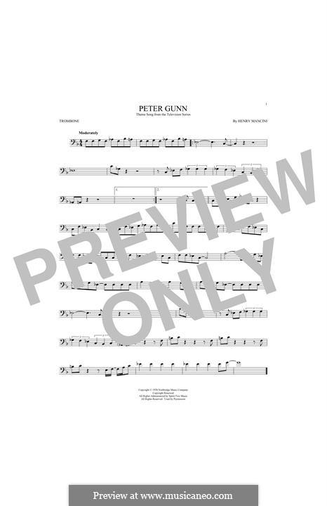 peter gunn theme sheet music pdf