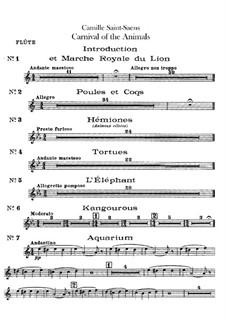 Complete Movements: Flute part by Camille Saint-Saëns