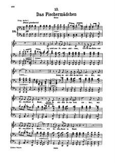 No.10 Das Fischermädchen (The Fisher-Maiden): For voice and piano by Franz Schubert