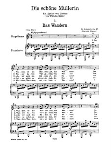 No.1 Das Wandern (Wandering): For voice and piano by Franz Schubert
