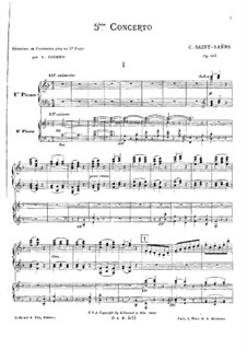 Concerto for Piano and Orchestra No.5 in F Major 'Egyptian', Op.103: Version for two pianos four hands by Camille Saint-Saëns