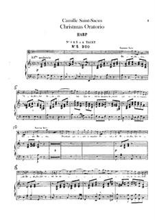 Oratorio de Noël (Christmas Oratorio), Op.12: Harp part by Camille Saint-Saëns