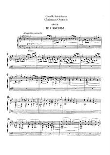 Oratorio de Noël (Christmas Oratorio), Op.12: Organ part by Camille Saint-Saëns