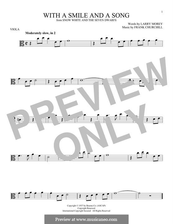 With a Smile and a Song: For viola by Frank Churchill