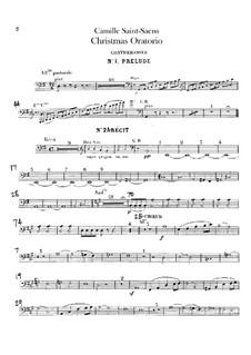 Oratorio de Noël (Christmas Oratorio), Op.12: Double bass part by Camille Saint-Saëns