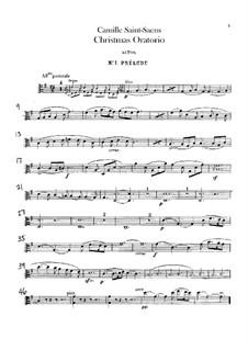 Oratorio de Noël (Christmas Oratorio), Op.12: Violas part by Camille Saint-Saëns