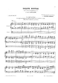 Oratorio de Noël (Christmas Oratorio), Op.12: Tollite Hostias, for organ by Camille Saint-Saëns