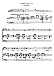La cendre rouge, Op.146: No.3 Douceur (Tenderness) by Camille Saint-Saëns