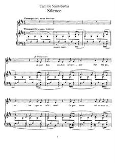 La cendre rouge, Op.146: No.4 Silence by Camille Saint-Saëns