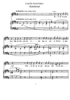 La cendre rouge, Op.146: No.7 Amoroso (Passion) by Camille Saint-Saëns