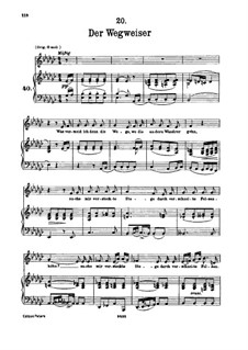 No.20 Der Wegweiser (The Signpost): For voice and piano by Franz Schubert