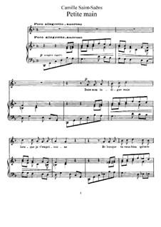La cendre rouge, Op.146: No.9 Petite main by Camille Saint-Saëns