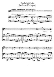 La cendre rouge, Op.146: No.10 Reviens (Epilogue) by Camille Saint-Saëns