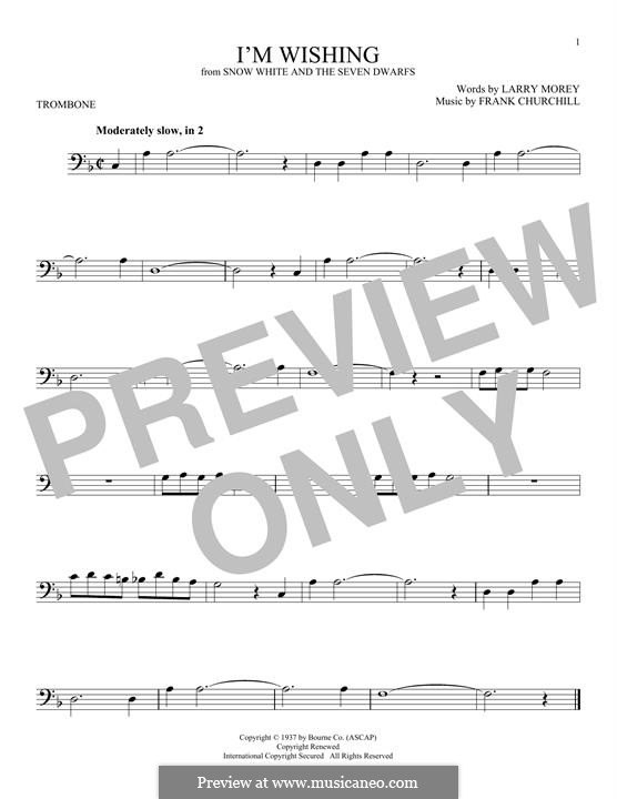 I'm Wishing: For trombone by Frank Churchill