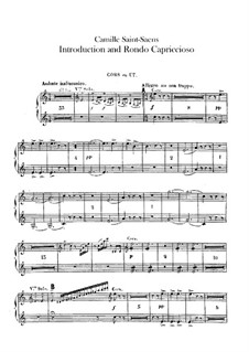 Introduction and Rondo Capriccioso, Op.28: Horns I, II parts by Camille Saint-Saëns
