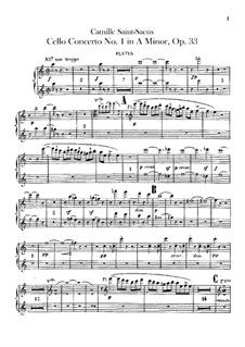 Concerto for Cello and Orchestra No.1 in A Minor, Op.33: Flutes part by Camille Saint-Saëns