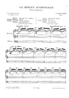 Le rouet d'Omphale, Op.31: For organ by Camille Saint-Saëns