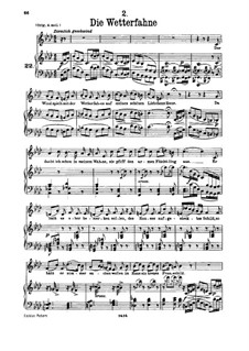 No.2 Die Wetterfahne (The Weather Vane): For low voice and piano by Franz Schubert