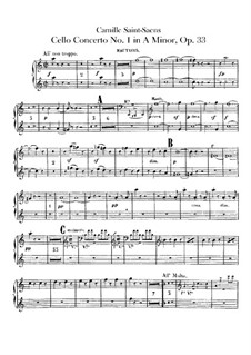 Concerto for Cello and Orchestra No.1 in A Minor, Op.33: Oboes part by Camille Saint-Saëns