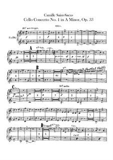 Concerto for Cello and Orchestra No.1 in A Minor, Op.33: Horns part by Camille Saint-Saëns