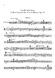 Concerto for Cello and Orchestra No.1 in A Minor, Op.33: Timpani part by Camille Saint-Saëns