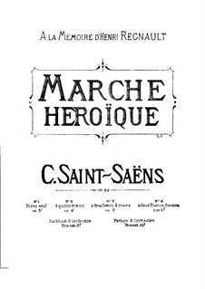 Heroic March, Op.34: For piano by Camille Saint-Saëns