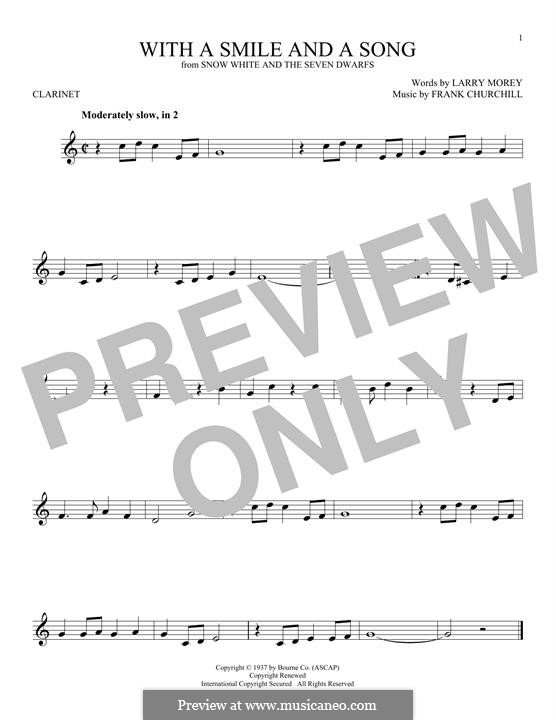 With a Smile and a Song: For clarinet by Frank Churchill