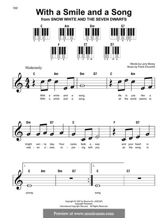 With a Smile and a Song: For piano by Frank Churchill