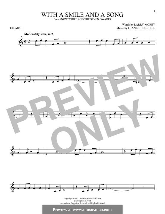 With a Smile and a Song: For trumpet by Frank Churchill