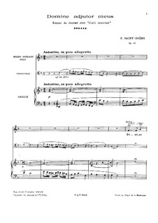 Cœli enarrant, Op.42: For voices, cello and organ by Camille Saint-Saëns