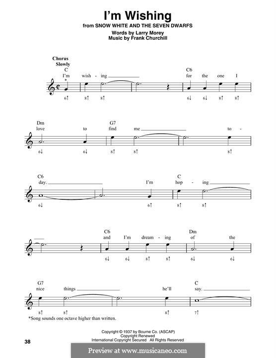 I'm Wishing: For harmonica by Frank Churchill