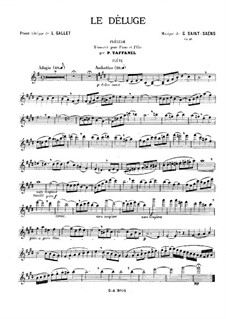 Le déluge (The Flood), Op.45: Prelude, for flute and piano by Camille Saint-Saëns