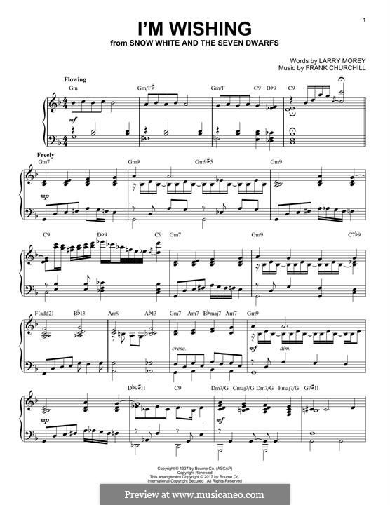 I'm Wishing: For piano by Frank Churchill
