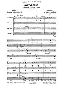 Saltarelle, Op.74: Saltarelle by Camille Saint-Saëns