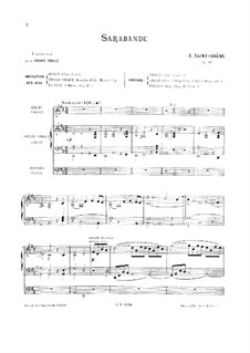 Suite in D Major, Op.49: Sarabande, for Organ by Camille Saint-Saëns