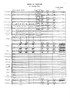 Requiem, Op.54: Full score by Camille Saint-Saëns