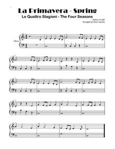 Violin Concerto No.1 in E Major 'La primavera', RV 269: Thema, for piano by Antonio Vivaldi