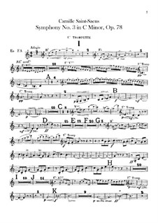 Symphony No.3 in C Minor 'Organ Symphony', Op.78: Trumpets part by Camille Saint-Saëns