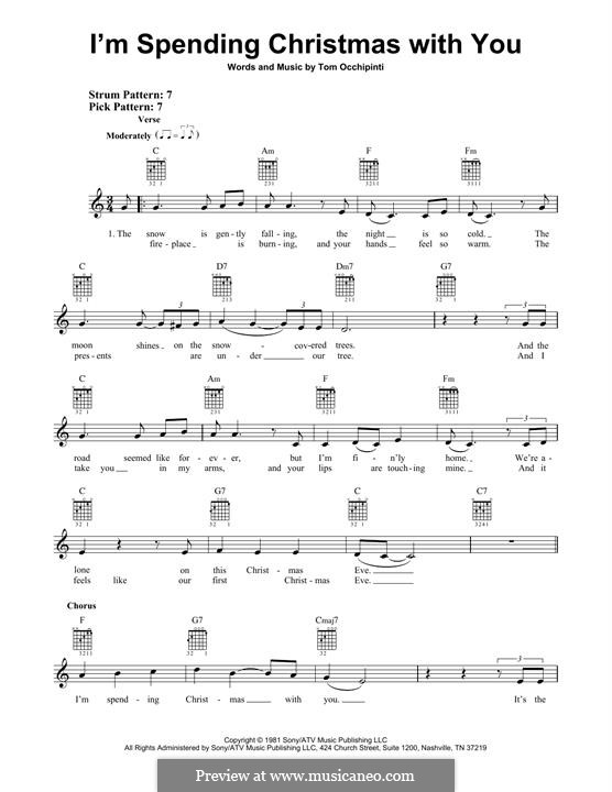 I'm Spending Christmas with You: For guitar with tab by Tom Occhipinti