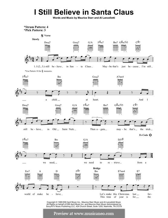 I Still Believe in Santa Claus: For guitar with tab by Al Lancellotti