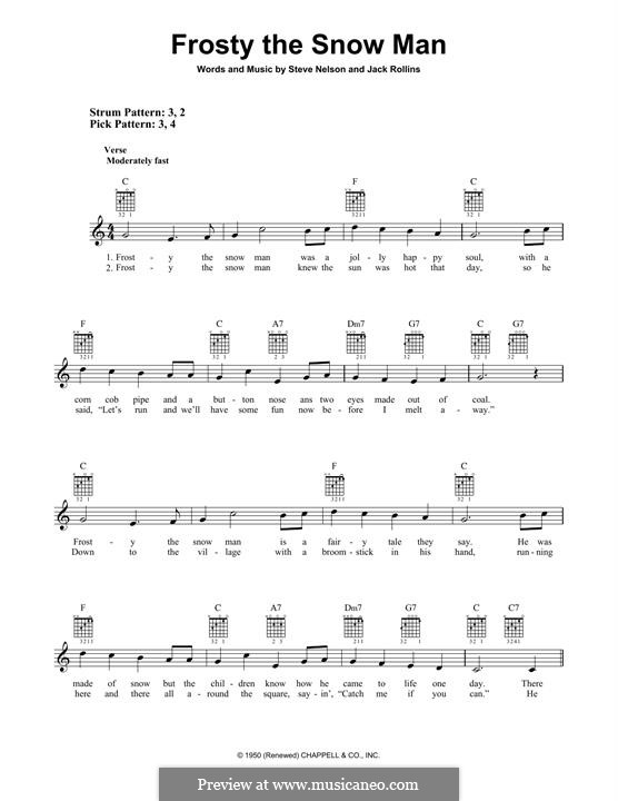 Frosty the Snow Man: For guitar with tab by Jack Rollins, Steve Nelson