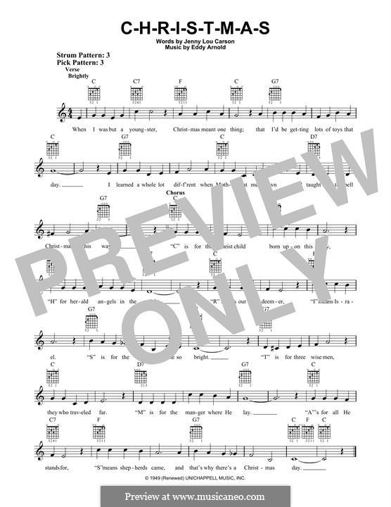 C-H-R-I-S-T-M-A-S (Perry Como): For guitar with tab by Eddy Arnold