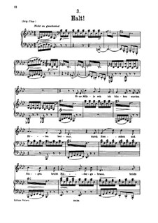 No.3 Halt (Stop): For low voice and piano by Franz Schubert